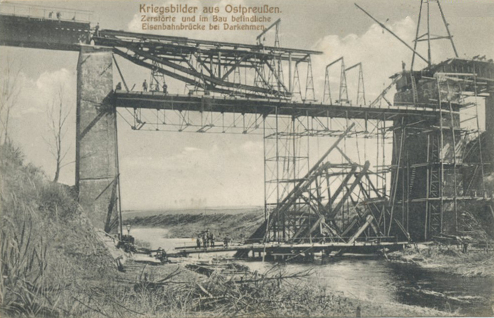 Darkehmer Brücke Wiederaufbau