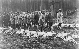 Kaiser Wilhelm II. und Zar Nikolaus II. auf Jagd