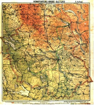 Treuburg grosse Karte farbig 400
