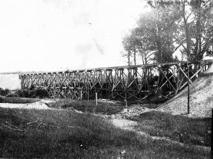 Szittkehmen Ostpreußen Neubau der Eisenbahn-Brücke 1914_1