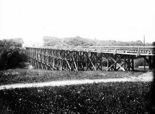 Szittkehmen Ostpreußen Neubau der Eisenbahn-Brücke 1914_2