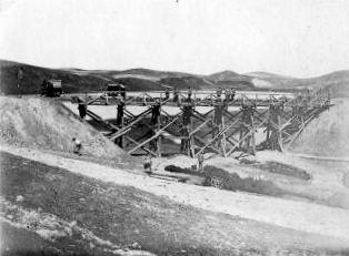 Szittkehmen Ostpreußen Neubau der Eisenbahn-Brücke 1914_3