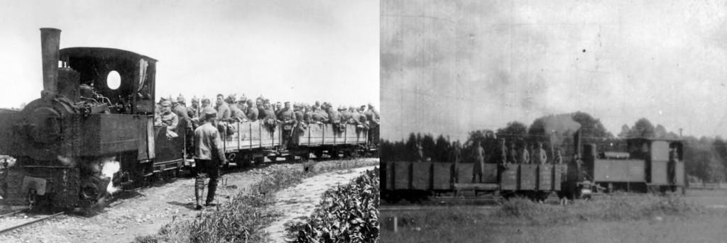 Beide-Feldbahnzüge